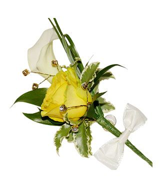 Calla Lily & Rose Decorated Boutonniere