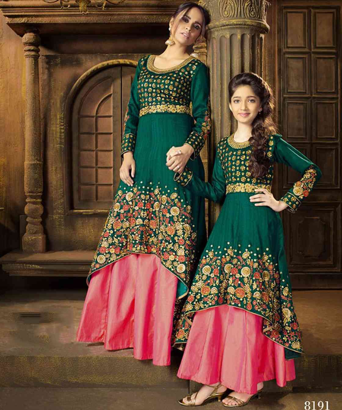 110d02dee9 Buy Mother daughter dress combo for partywear occassion at wholesale in  surat