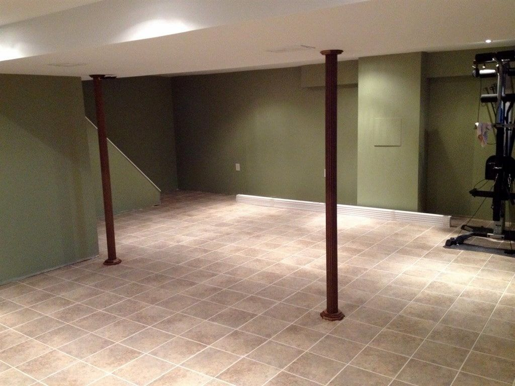 Ceramic Tile Around Basement Floor Drain