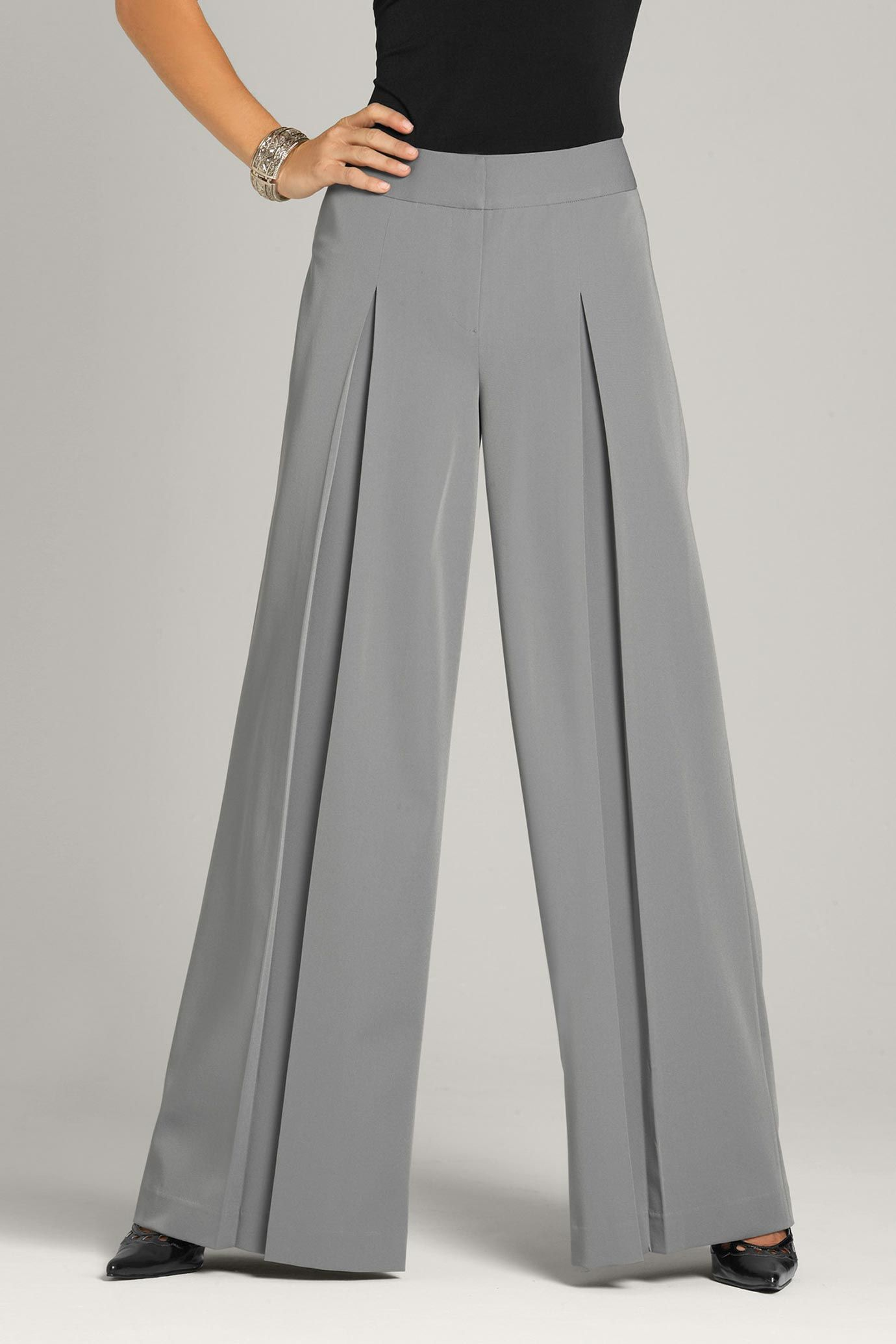 Crepe Pleated Trouser - Powder blue Love