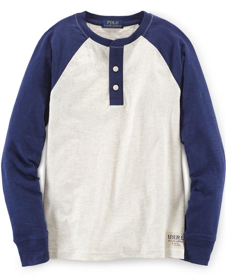 Ralph Lauren Little Boys' Henley Raglan Shirt