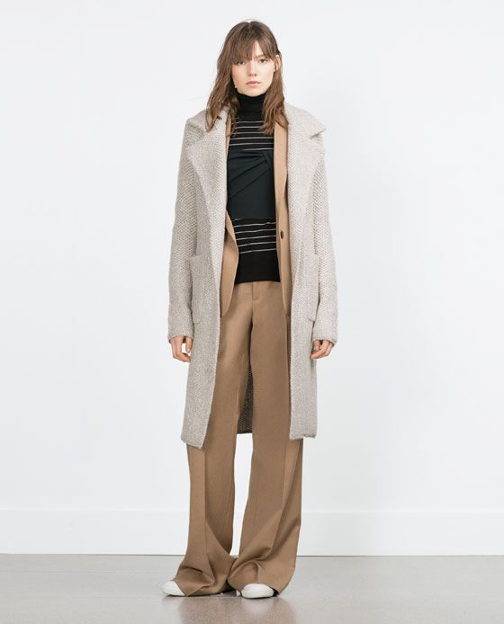 dc9e653f5878 Image 1 de MANTEAU À GRANDS REVERS de Zara   Couture   Pinterest ...