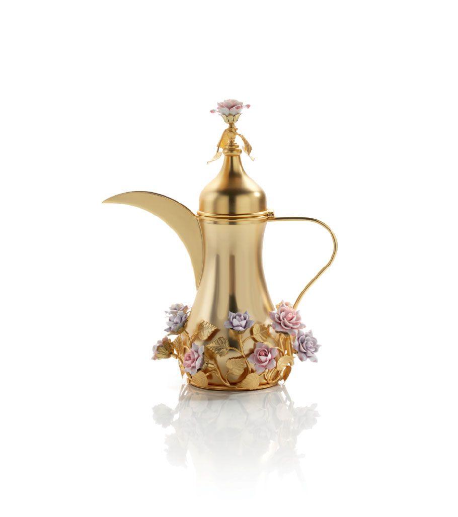 Villari Aladdin Lamp Porcelain Flowers Marble Wallpaper Phone