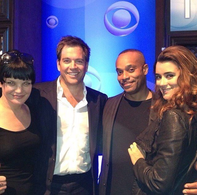 Pauley Perrette, Michael Weatherly, Rocky Carroll, and Cote de Pablo
