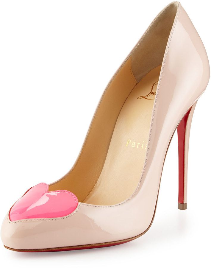 Christian Louboutin Doracora Patent Heart Red Sole Pump 7be45d0612