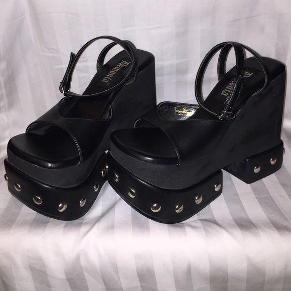 6398ffd8182620 🍀 Black Demonia platform sandals Black Demonia platform sandals ...
