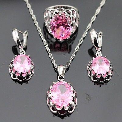 925 Sterling Silver Plating New Fashion Violet Cristal Pendentif Bijoux Collier