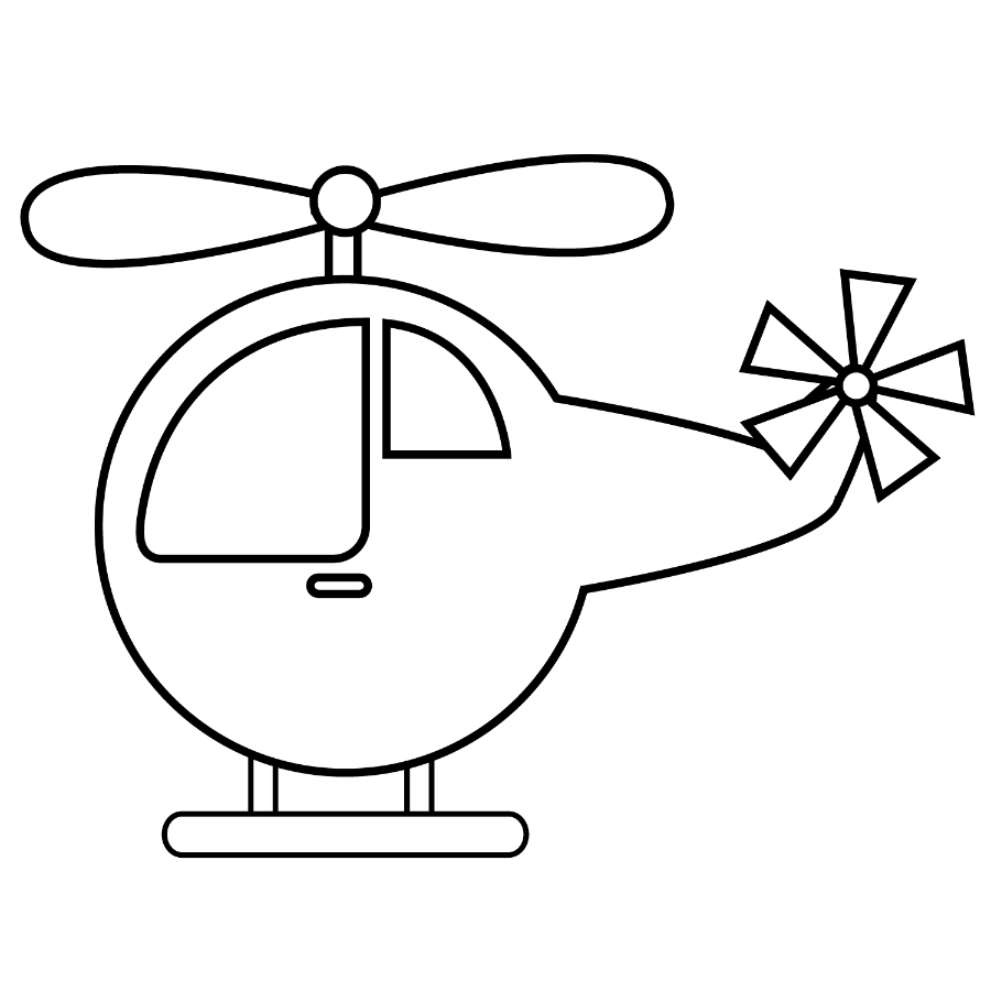 Meios de Transporte - helicopter.png - Minus  Easy drawings for