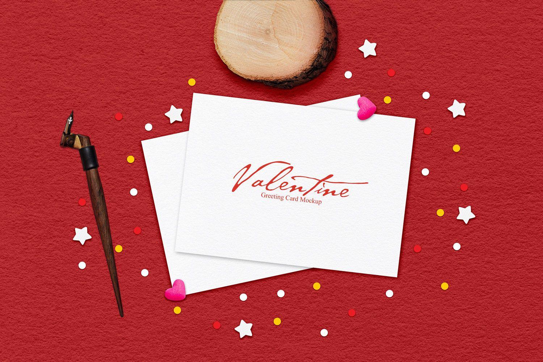 Free Valentine Greeting Card Mockup Valentine Greeting Cards