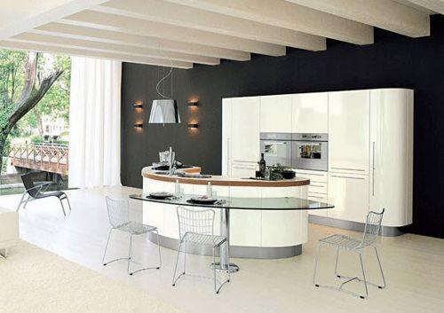 cocina-con-muebles-blancos | cocinas | Pinterest | Muebles blancos ...