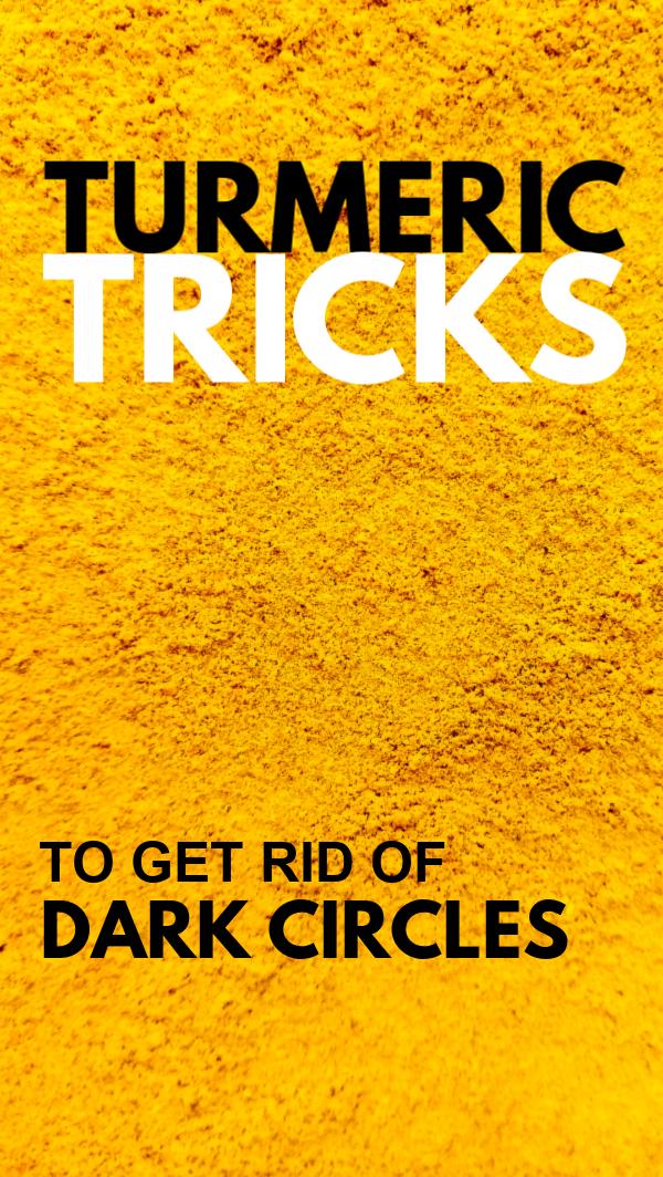 Turmeric Trick To Get Rid Of Dark Circles - Glowpink # ...