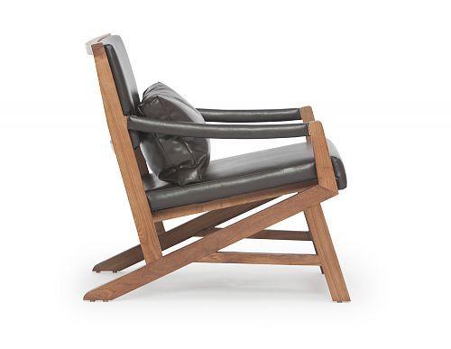 Structube Living Room Armchairs Kanji North Teak