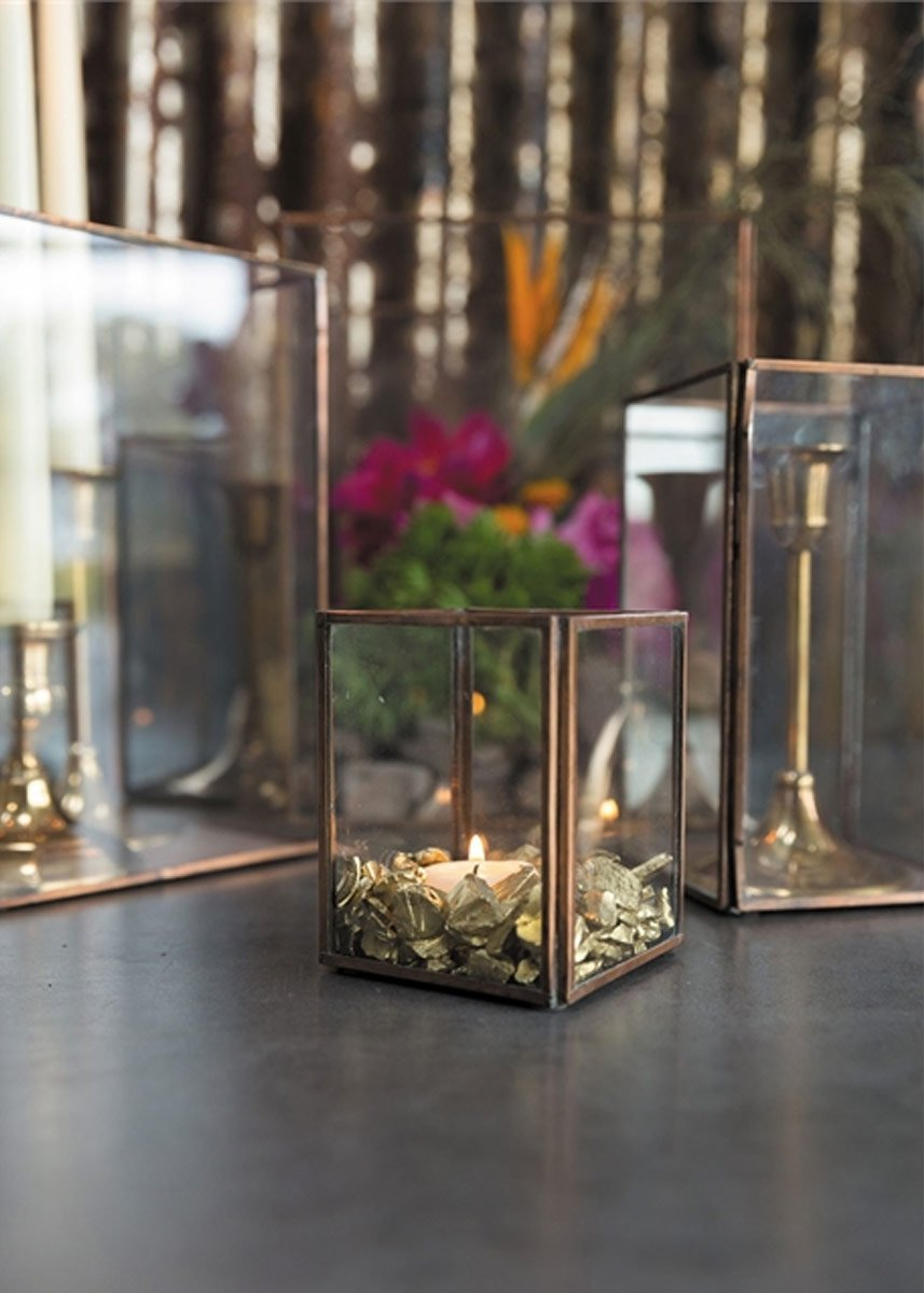 Copper Candle Holders And Decorations At Afloral Com Glass Votive Holders Glass Votive Copper Candle