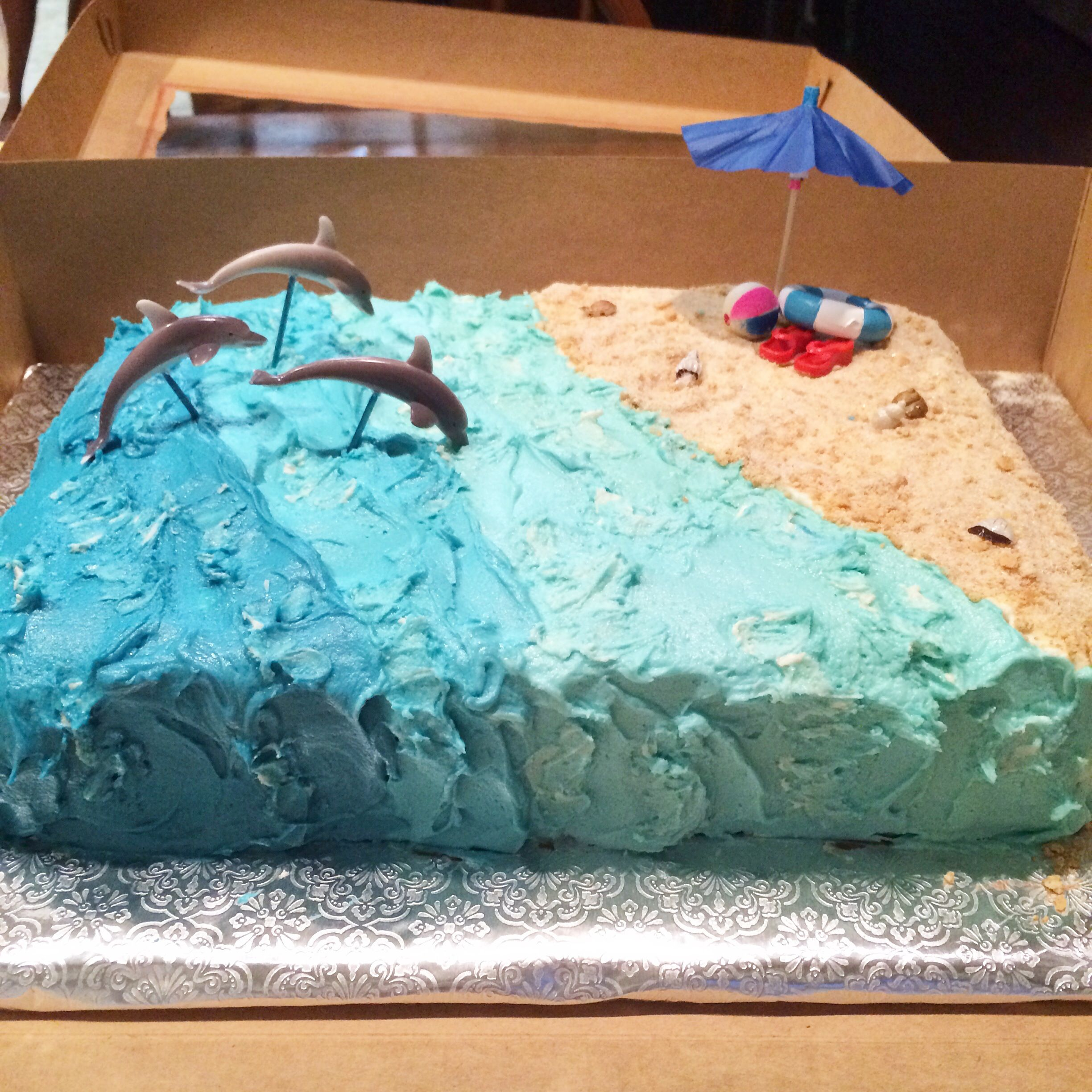 Dolphin Birthday Party Such A Fun And Easy Cake To Make