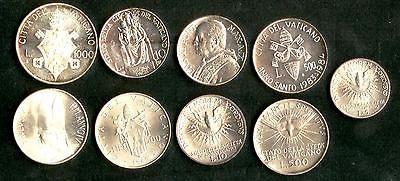 9 Münzen Vatikan Alle Silber Schöne Kleine Sammlung In Topqualität