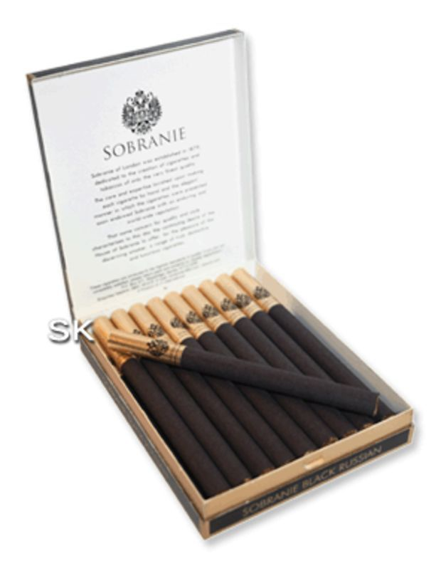 Sobranie Black Russian Cigarettes - Pack of 20 - Smoke ...