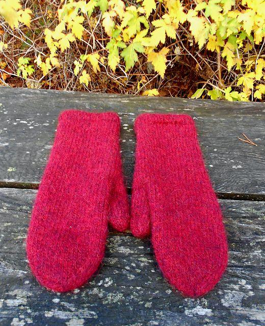 Best Felted Mittens Pattern By Olga Beckmann Knitted Pinterest