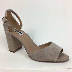 a4c7b847f92 Steve Madden Mirna tan suede sandals heels size 10 M New