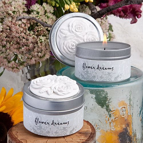 Rose Ancienne Collection Scented candle tin favors