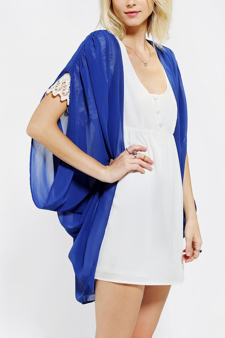 Pins And Needles Chiffon Cocoon Cardigan | need for winter ...