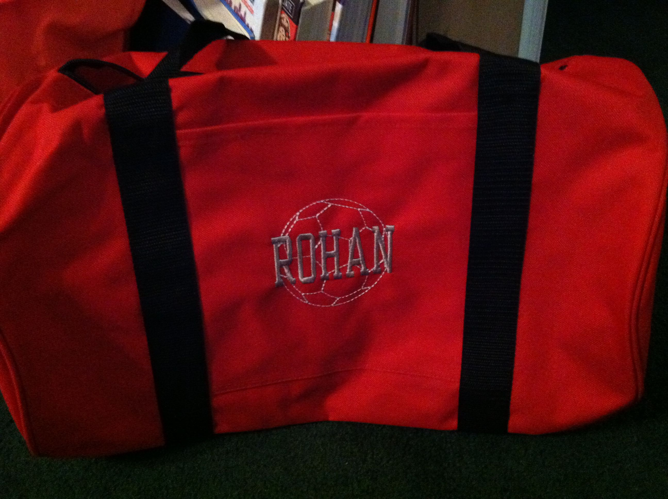 Early Christmas present for my nephew, new soccer bag.