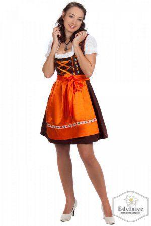 e73e9b10499361 Orange and brown dirndl | Lederhosen und Dirndl | Dirndl, Beer girl ...