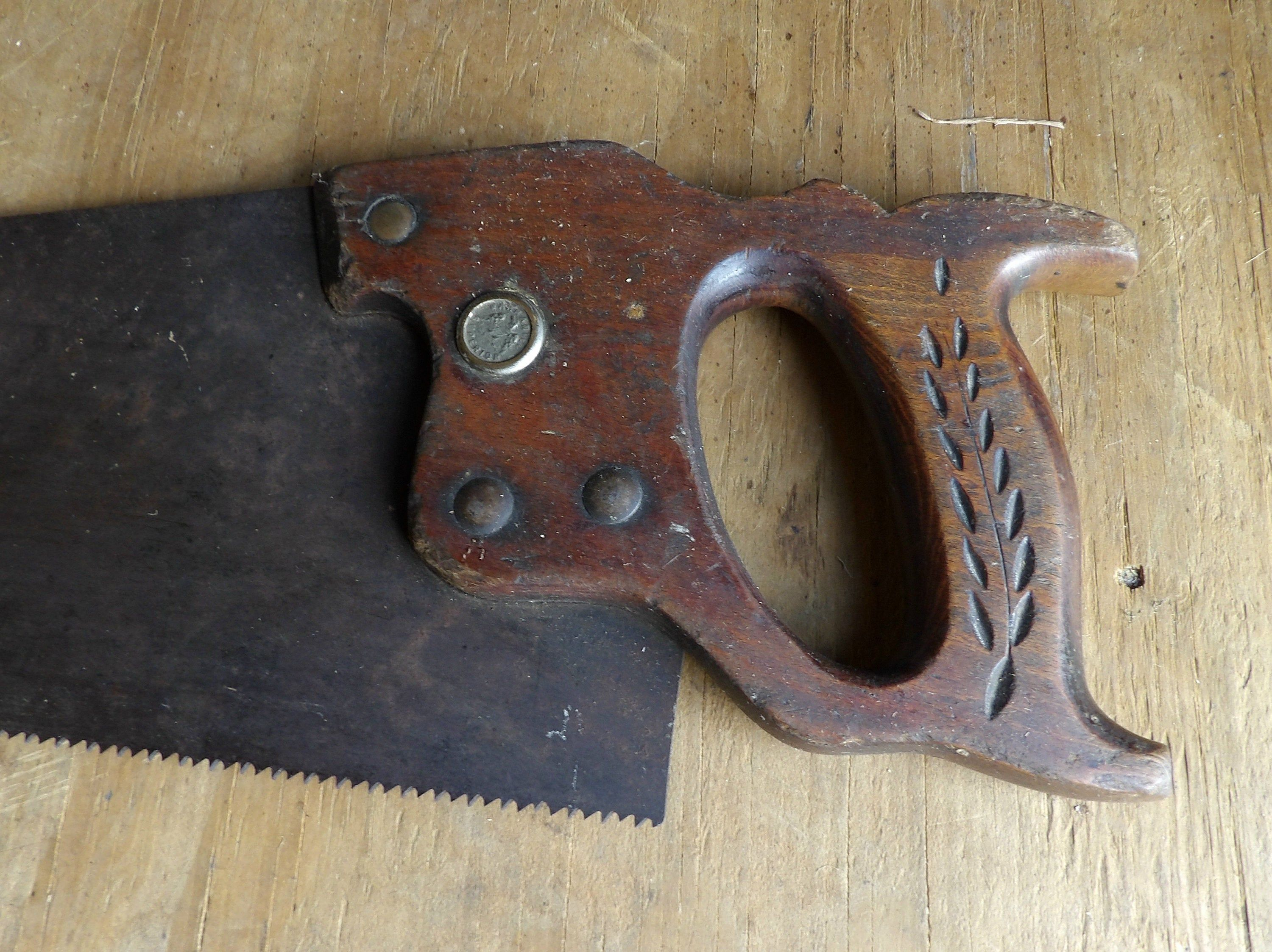 Antique Warranted Superior Hand Saw Wheat Pattern | Etsy