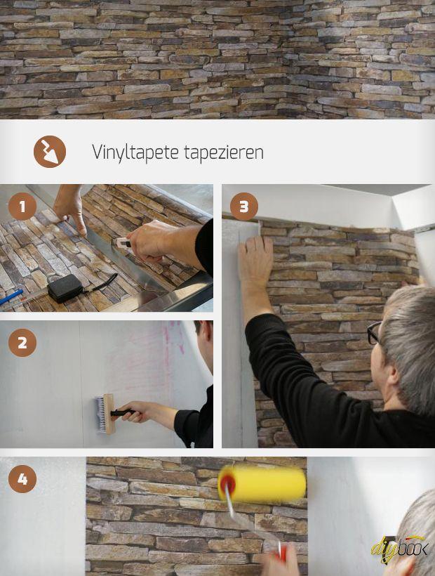 Tapezieren Anleitung vinyltapete tapezieren tapezieren schritt für schritt und einfach