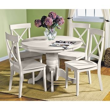 Dining Room Furniture  Plantation Cove White Table  Attic Alluring Value City Kitchen Sets Design Ideas