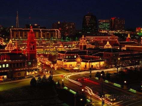 Kansas City Plaza, at Christmas, Missouri | Kansas and City