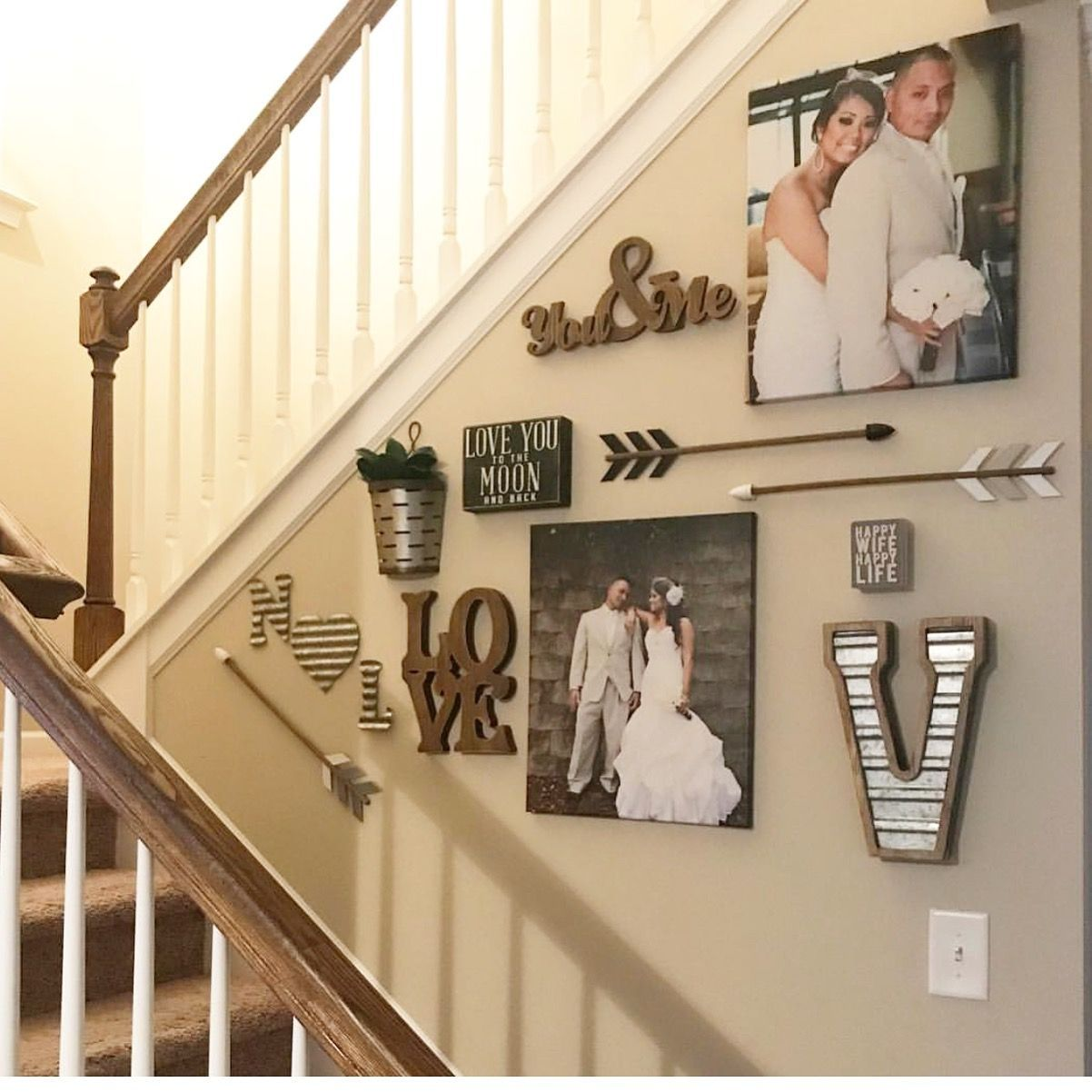 My Stairway Wall Gallery Stairwaywalldecor Staircase Wall Decor