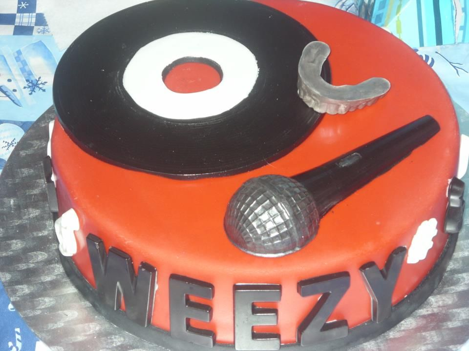 Sensational My Lil Wayne Cake It Was So Yummy The Letters And All The Personalised Birthday Cards Petedlily Jamesorg