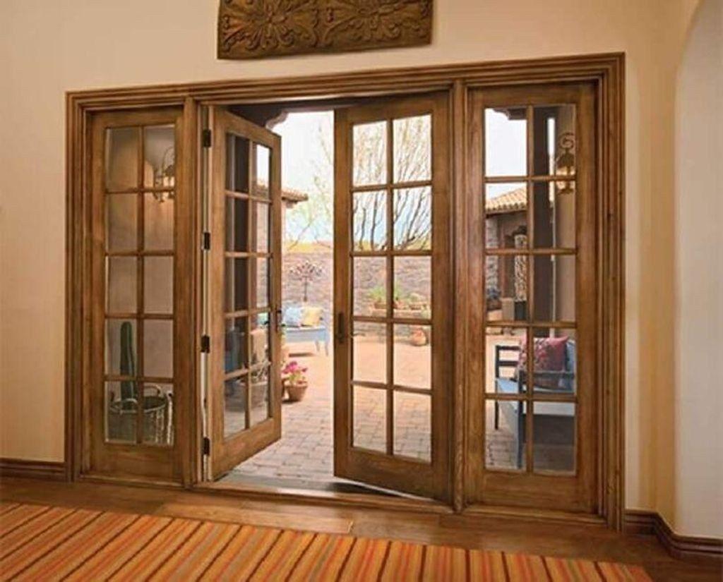 Enchanting Wooden Exterior Door Ideas 39 Wood French Doors Wood