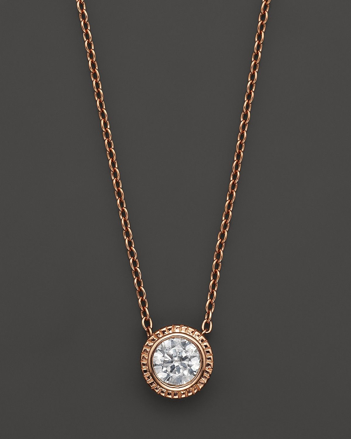 Diamond solitaire 14k rose gold pendant necklace 25 ct tw diamond solitaire 14k rose gold pendant necklace 25 ct tw bloomingdales wedding aloadofball Gallery