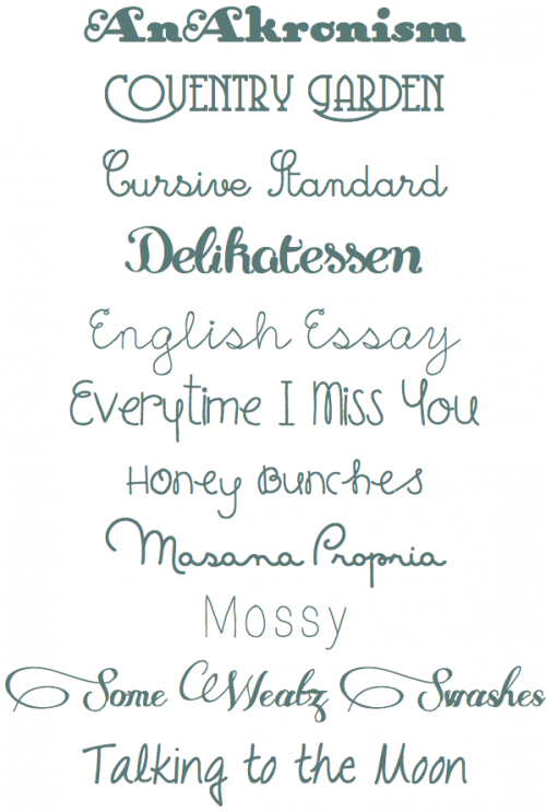 Pretty Fonts To Use For Sweet Words