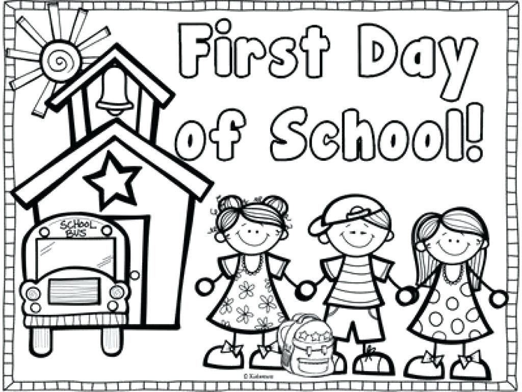 First Day Of School Coloring Pages Fresh Collection First Day