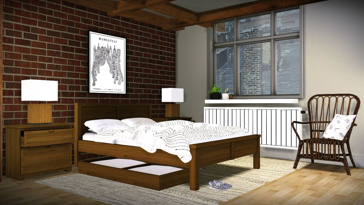 Sims Bedroom Mxims Brittany Bedroom 2 Bed Style 1 Pillow Bed 1 Sims 4