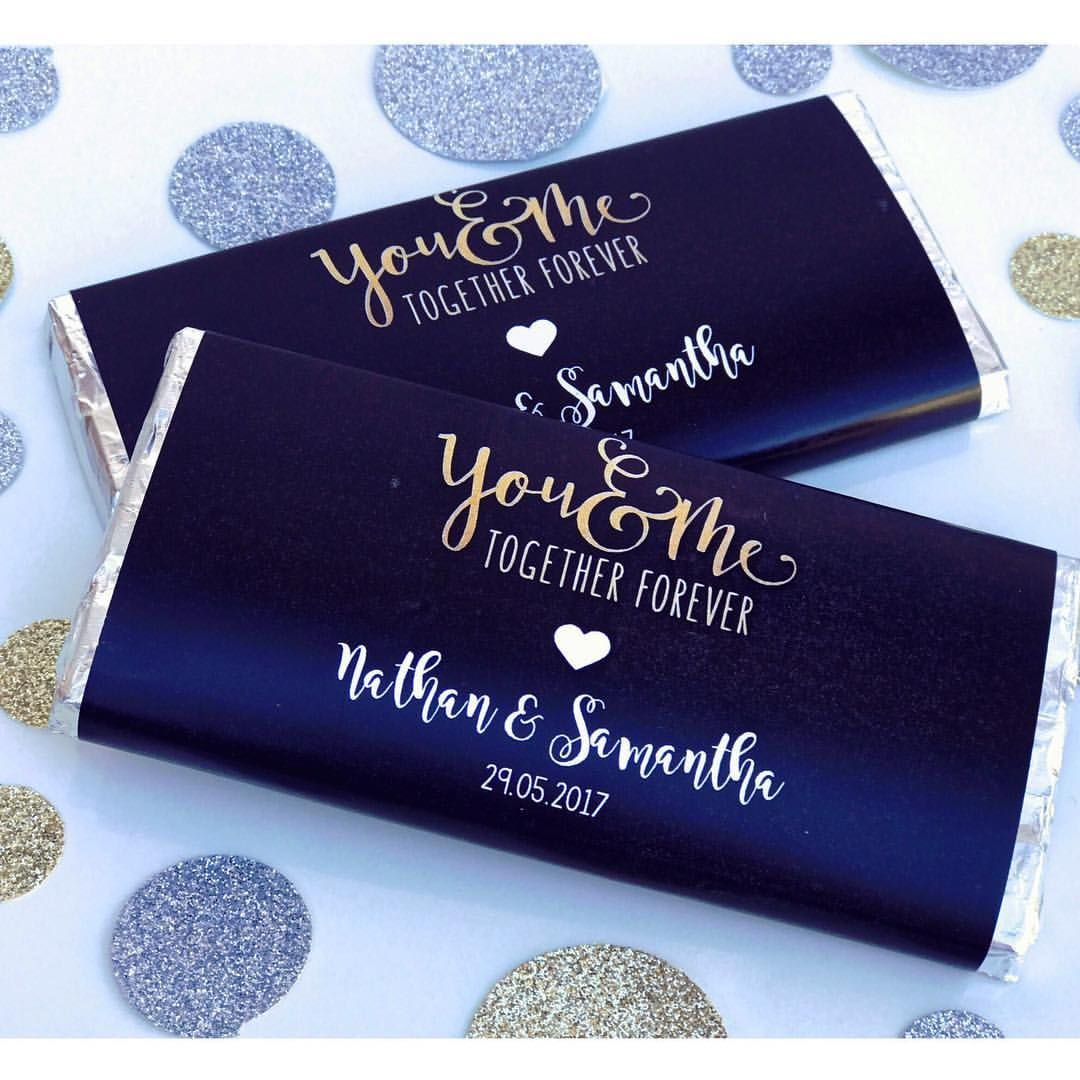 Personalised Wedding Thank You Chocolate Wrapper Favours Dessert Table Ideas Chocolate Bar Wrappers Chocolate Wrappers Personalized Wedding