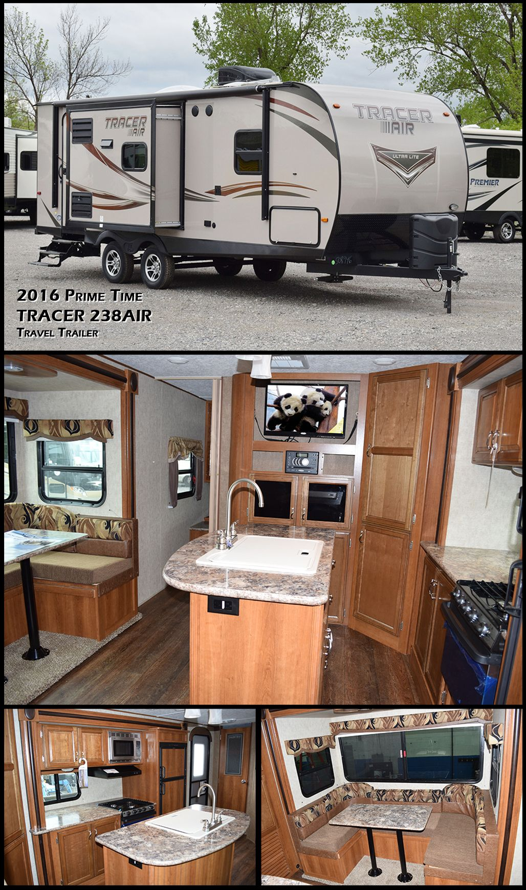 The 2016 Tracer 238AIR travel trailer by Prime Time manufacturing ...
