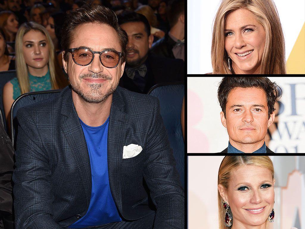 Robert Downey Jr. 50th Birthday Jennifer Aniston, Reese