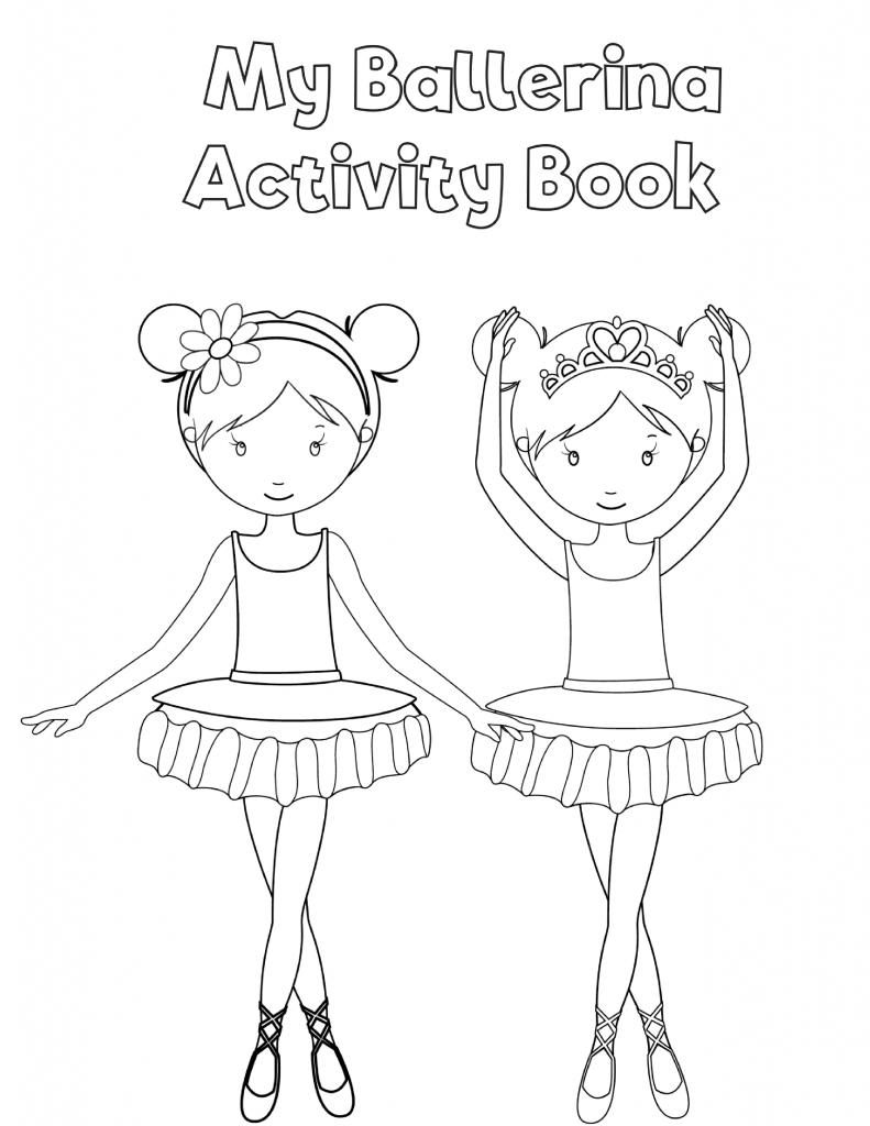 Free Printable Preschool Ballerina Workbook Slap Dash Mom Dance Coloring Pages Ballet Crafts Dance Crafts