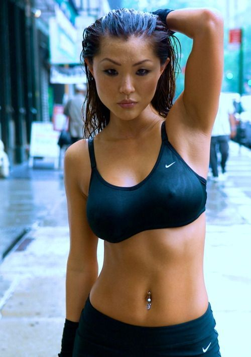athletic girl Hot asian