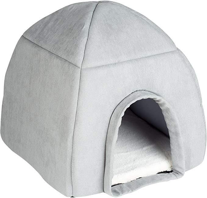 Me & My Large Grey Igloo Pet Bed Amazon.co.uk Pet