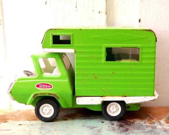 Green Tonka Camper Vintage Trucks Tonka Toys Toy Trucks