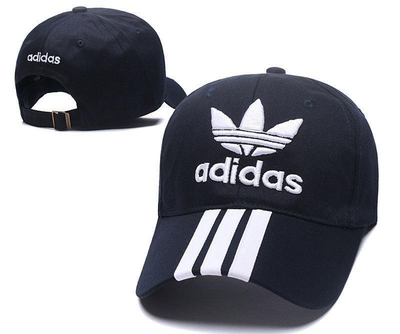 0e92be94351f9 Men s   Women s Adidas Tre-Foil Logo Tripple Stripes Curved Dad Hat - Navy