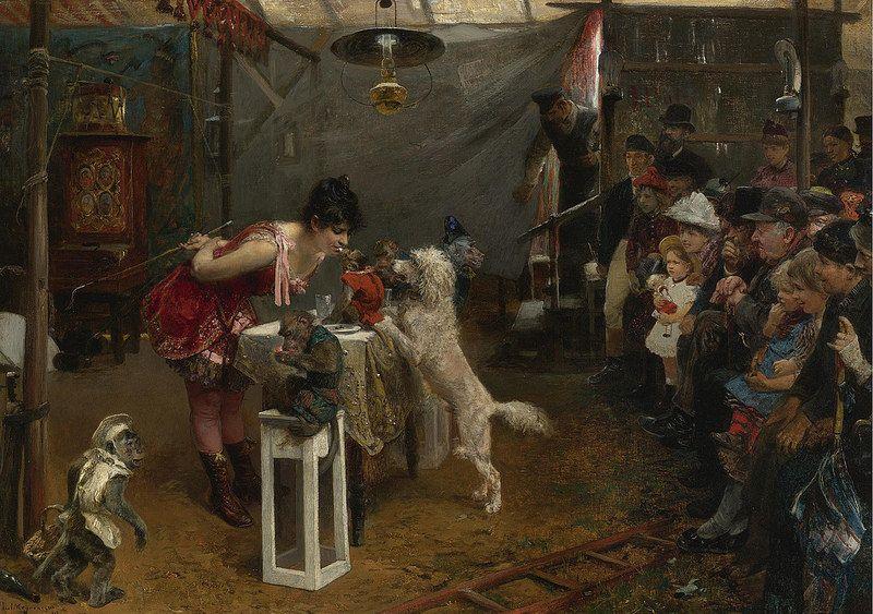 Sideshow Tricks, 1891, by Paul Friedrich Meyerheim