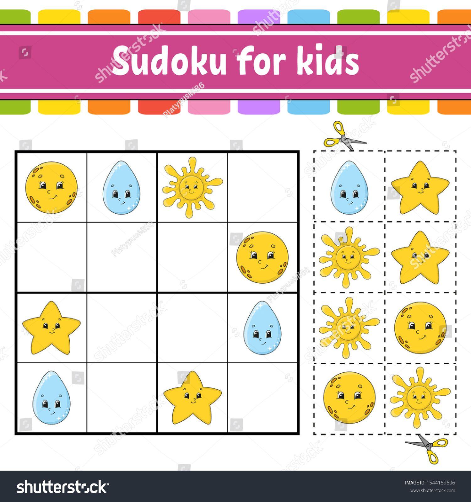 Sudoku For Kids Education Developing Worksheet Activity