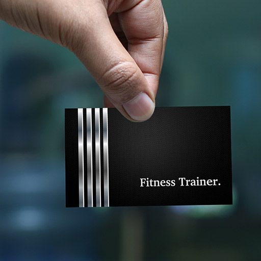 Fitness trainer professional black silver business card business customizable fitness trainer professional black silver business card colourmoves