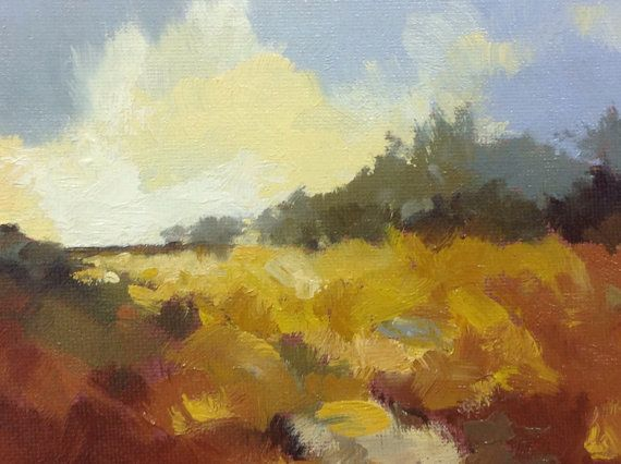 UP THERE oil landscape painting original 100% by PaintingWell
