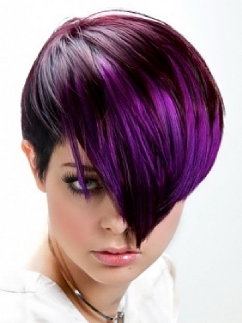 Purple Short Hairstyles Hair Styles Cool Short Hairstyles Haircut For Thick Hair